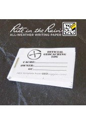 """5cm (2"""") x 3.5cm (1.4"""") Geocaching Log Booklet (1 or 5 Pack)"""