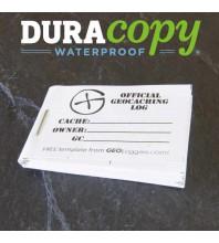 """5cm (2"""") x 3.5cm (1.4"""") Geocaching Log Booklet WATERPROOF (1 or 5 Pack)"""