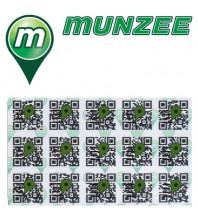 FREEBIE: 5 x MICRO Generic Munzee Stickers (WHITE)