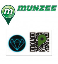 1 x Aquamarine Mini Munzee Sticker