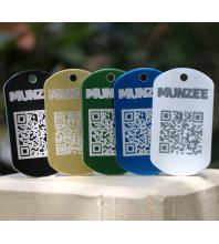 Laser Etched Personal Munzee Dog Tag (Aluminium)