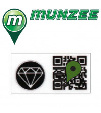 1 x Diamond Mini Munzee Sticker
