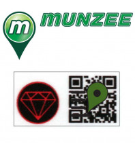 1 x Ruby Mini Munzee Sticker