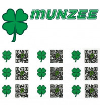 10 x Shamrock Munzee Stickers