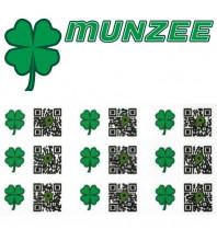 10 x Shamrock Munzee Stickers