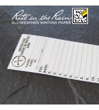 "4.5cm (1.8"") Wide SMALL Geocaching Log Sheets (5, 10 or 20 Pack)"