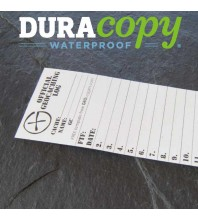 "4.5cm (1.8"") Wide SMALL Geocaching Log Sheets WATERPROOF (5, 10 or 20 Pack)"