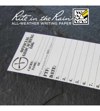 "4cm (1.6"") Wide SMALL Geocaching Log Sheets (5, 10 or 20 Pack)"
