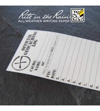 "5.5cm (2.2"") Wide SMALL Geocaching Log Sheets (5, 10 or 20 Pack)"
