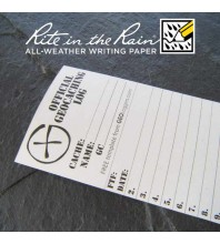 "6cm (2.4"") Wide SMALL Geocaching Log Sheets (5, 10 or 20 Pack)"