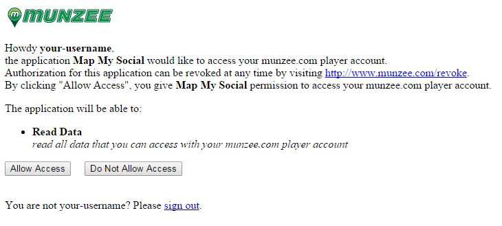 Map My Social Authorization Step 2
